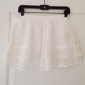 New Abercrombie & Fitch White Layered Mini Skirt
